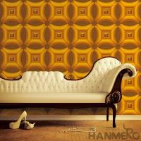 Wholesale Golden Color Decorative 3D Home Wallpaper , PVC Wallpaper For House Interior from china suppliers