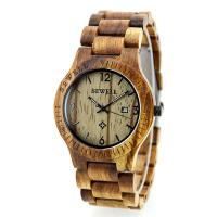 Wholesale Custom Handmade  Wooden Wrist Watch With Miyota Japanese Movement , Wood Color from china suppliers