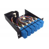 Wholesale 12 SC Connectors anti - shocking MPO Patch Panel for cable wiring system from china suppliers