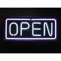 "Wholesale Plastic / Aluminium 22""x13"" Outdoor Neon Open Sign Low Consumption from china suppliers"