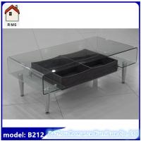 Glass Top Coffee Table With Drawers: New Hot Bending Glass Coffee Table With Drawer Glass Top
