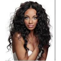 Wholesale Brazilian Curly Swiss Curly Human Hair Wigs With Baby Hair Natural Black from china suppliers