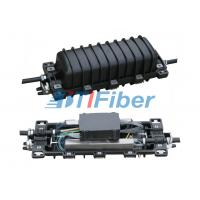 Wholesale 2 Input And 2 Output , In Line Outdoor Fiber Splice Enclosure With 12 Fiber Splice Tray from china suppliers