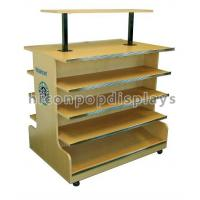 Wholesale 4 Tier Wooden Retail Display Shelves Store Fixtures Visual Merchandise from china suppliers