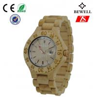 Wholesale Japan Movt Bamboo Quartz Wrist Watch Waterproof , Ladies Wooden Watch from china suppliers