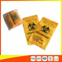 Wholesale Laboratory Biohazard Specimen Transport Bags Reclosable 3/4 Layer Yellow Color from china suppliers