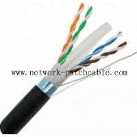 Wholesale HDPE FTP Network Outdoor Cat6 Cable 0.58mm 4PR Black PE 10Mbit Ethernet from china suppliers