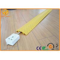 Quality Yellow Floor Cord Protector Cover Ramp 1 Channel PE Rubber Floor Cable Cover For Indoor for sale