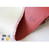 Wholesale 0.8mm High Silica Cloth High Temperature Silicone Coated Fiberglass from china suppliers
