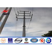 Quality 69kv hot dip galvanized electrical power pole for power transmission for sale