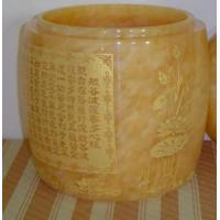Buy cheap Beige Cremation Marble Urn from wholesalers