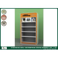 Buy cheap Orange Metal Frame Petfood Four Layers Retail Display Shelves In Supermarket from wholesalers