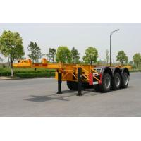 Wholesale 40ft Carbon-steel Skeletal Container Trailer Chassis (Rear 3 FUWA axles) from china suppliers