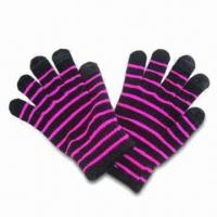 Wholesale Touch Screen Knitted Gloves in Various Colors, Customized Designs are Accepted from china suppliers