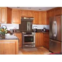 Wholesale Waterproof Assembled Thermofoil Kitchen Cabinets , Honey Oak Kitchen Cupboards from china suppliers