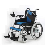 Wholesale Liquid Painted Steel Indoor Power Wheelchair , Collapsible Electric Wheelchair from china suppliers