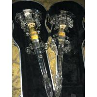 Wholesale Excellent Full Transparent Acrylic Electric Violin European luxury design Crystal Electric Violin from china suppliers