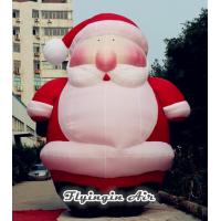 China 6m Height Giant Christmas Inflatable Santa Claus for Xmas Decoration on sale