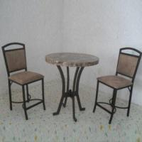 Wholesale Trendy Dining Set with Ordinary Clear Glass and Handcraft Paint from china suppliers