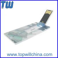 Wholesale Slim Card Usb Flash Memory 32GB 64GB Storage with High Quality Digital Printing from china suppliers