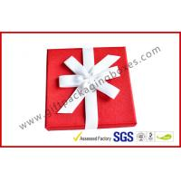 Wholesale Elegant Square 1200G Grey Board Gift Ppackaging Boxes , Fabric Gift box with Ribbon from china suppliers
