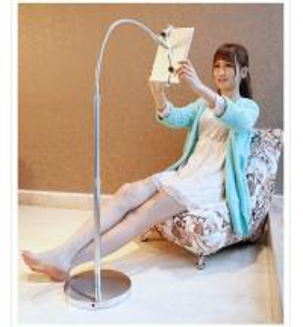 Wholesale iPad Adjustable Tablet Floor Stand Hands Free , Floor Bracket Mount from china suppliers