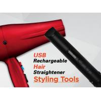 Wholesale Red Cordless Rechargeable Hair Straighteners Flat Iron With USB Charger from china suppliers