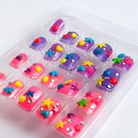 Wholesale 3D Decoration Kids Fake Nails Star And Gliiter Artificial Full Cover from china suppliers