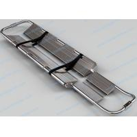Wholesale Stainless Steel Foldable Stretcher , Adjustable Length Scoop Emergency Stretcher from china suppliers