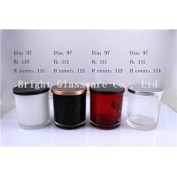 Wholesale Colorful Glass Candle Holder , Candle Jar With Lid Cover from china suppliers