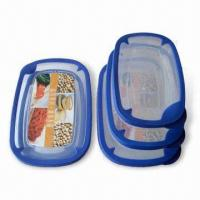 Wholesale 3-piece Food Storage Containers, Various Shapes are Available from china suppliers