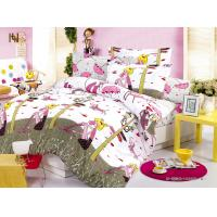 Wholesale Customized Pink Cartoon Printed 100 % Cotton Kids Bed Sheet Sets for Girls from china suppliers