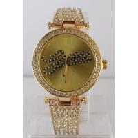 Wholesale Lady's Metal Wrist Watch  with diamond bezel diamond bangle from china suppliers