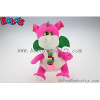 "Wholesale China Manufacturer Pink Stuffed Dinosaur Animal With Scarf In 10"" Size from china suppliers"