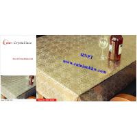 Wholesale PVC Table Cloth --RNPT Crystal lace table cloth ---TC285-T003 gold table cloth from china suppliers