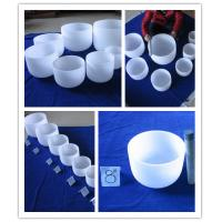 Wholesale Classic frosted quartz singing bowl with mallet from 6 inch to 24 inch from china suppliers