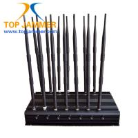 Wholesale 14 Channels 35w Cellphone Signal Jammer Block GSM DCS 3G 4G LTE Wifi 5.8G Lojack 315 433 from china suppliers