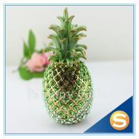 Quality Shinny Gifts Shiny Diamond Pineapple Shape Trinket Box Full Diamond Gift Box for sale