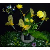 Buy cheap Solar Fiber Optic Bee  On A Poly Resin Stone from wholesalers