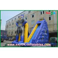 Wholesale Kids Giant Commercial Inflatable Superman Bouncer Slide 8m Height With Print from china suppliers