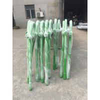 Quality White Painted Waterproof Street Light Poles Conical Tubular RAL Color with green for sale