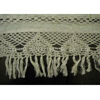 Wholesale Rib Linen Crochet Accessories / Crochet Lace Curtains With Tassels Trimming from china suppliers