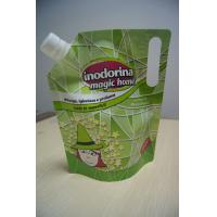 Wholesale Green Drink Spout Pouch Packaging Die Cut Handle for LIquid Packaging from china suppliers