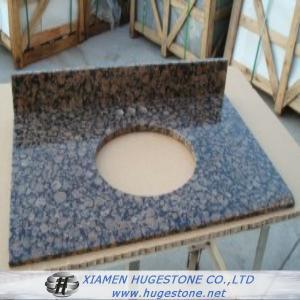 Buy cheap Dark Brown Granite Sink Countertops, Granite Countertops with built in Sinks from wholesalers