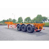 China Steel Tank Container Trailer Chassis / 40 ft Gooseneck Trailer 3 Axles on sale
