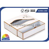 Wholesale Luxury PVC / PET Window Paper Gift Box Rigid Drawer Cardboard Gift Boxes from china suppliers