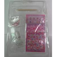 Wholesale Pink sticker Fake Nails Art Kit , Top Coat Nail Polish Manicure Stick from china suppliers