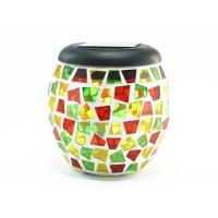 Wholesale mosaic jar with led solar light , mosaic jar lamp from china suppliers