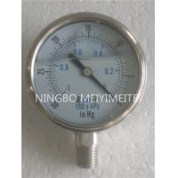Wholesale Stainless Steel Vacuum Pressure Gauge Roll Ring Bezel Vacuum Pressure Gage from china suppliers