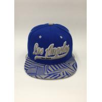 Quality Snapback Baseball Hat Sports Embroidery Printing Geometry Black Blue for sale